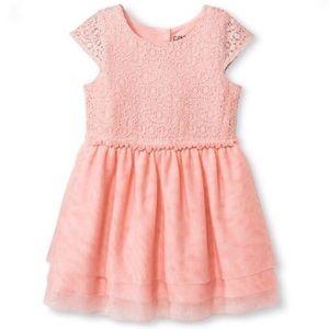 NWT Osh Kosh Holiday Daydream Pink Lace Dress 12M